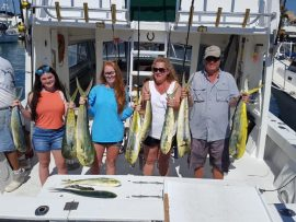 Successful family fishing trip on a charter boat near Key West FL