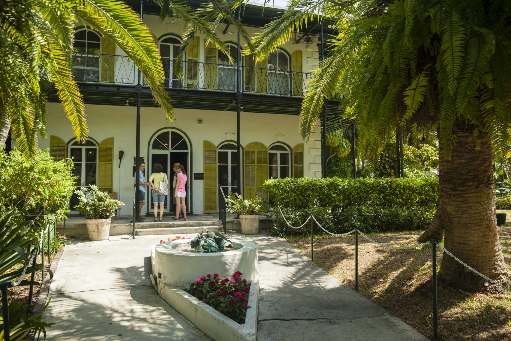 Historic landmark Ernest Hemingway's Home in Key West FL