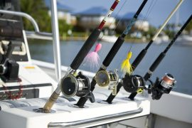 Fishing poles in Key West IL