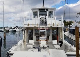 A photo of the Lucky Charm, one of the fishing boats part of Captain Moe's Lucky Fleet.